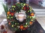 Wildblumen Kranz, Urnenbeisetzung Trauerfeier, Blumenkranz RÜHLE