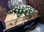 Trauerfloristik RÜHLE, Grabpflege Rühle Angebot, Sarg Dekoration Rose