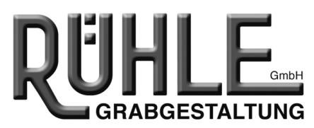 Logo RÜHLE Grabgestaltung, Grabmalpflege, Gärtringen Grabpflege Floristik